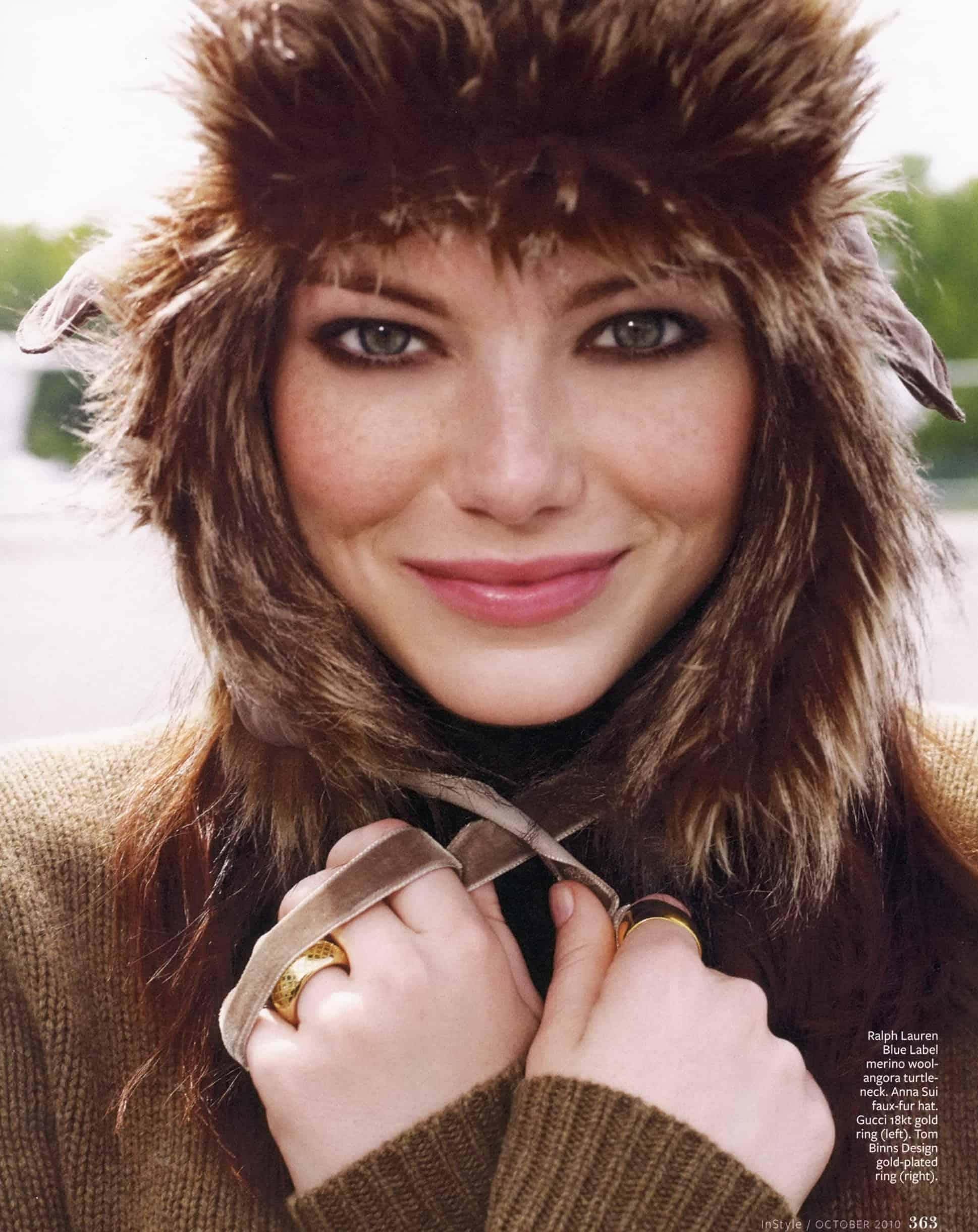 emma-stone-fur-hat