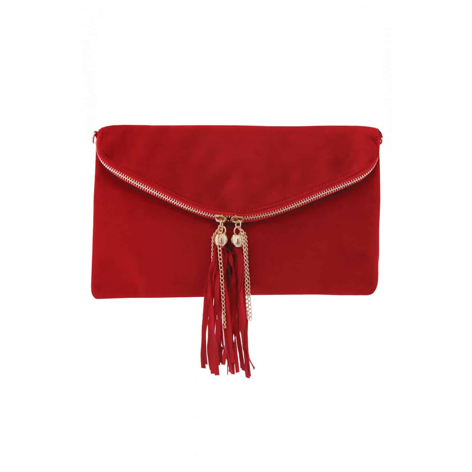 Fringe & Chain Trim Brushed Clutch £14.00 from  Rarelondon