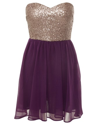 miso sequined strapless dress republic 45 00 pounds Holiday Party Looks & Styles! What To Wear For 2013 New Years Eve Party?