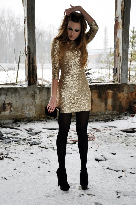 new yeareve party sequined dress Holiday Party Looks & Styles! What To Wear For 2013 New Years Eve Party?