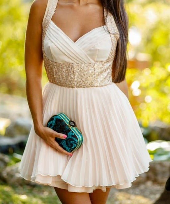 nude princess party dress Holiday Party Looks & Styles! What To Wear For 2013 New Years Eve Party?