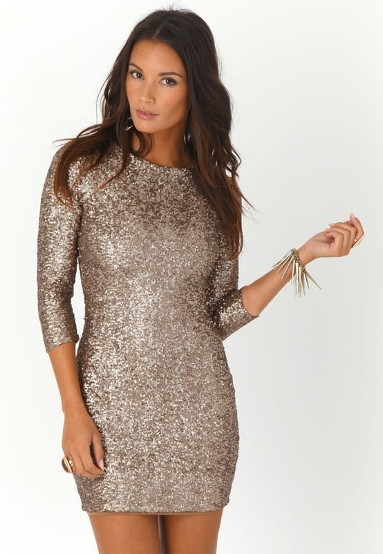 nude sequined new year eve party dress Holiday Party Looks & Styles! What To Wear For 2013 New Years Eve Party?