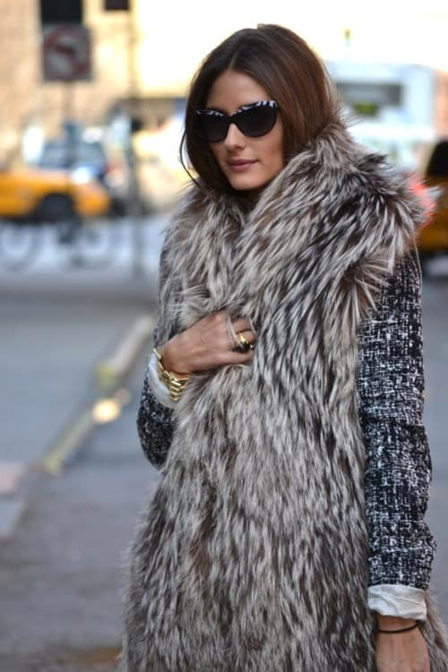 olivia palermo fur Olivia Palermo   Style Icon! What Are Her Fashion & Styling Tips?