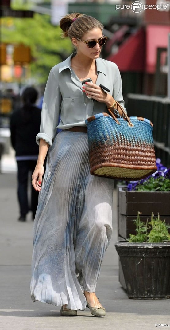 olivia palermo maxi skirt Olivia Palermo   Style Icon! What Are Her Fashion & Styling Tips?