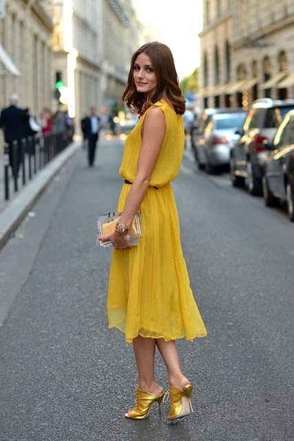 olivia palermo yellow ress Olivia Palermo   Style Icon! What Are Her Fashion & Styling Tips?