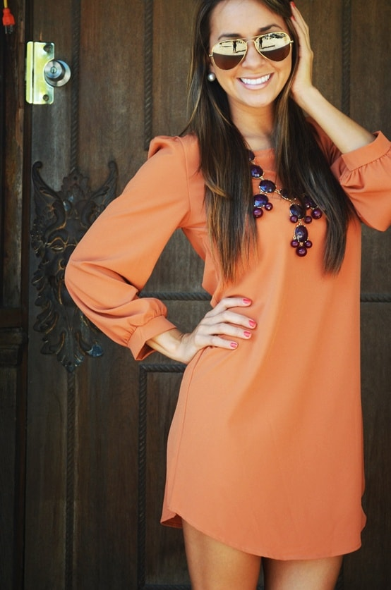 orange mini dress Holiday Party Looks & Styles! What To Wear For 2013 New Years Eve Party?