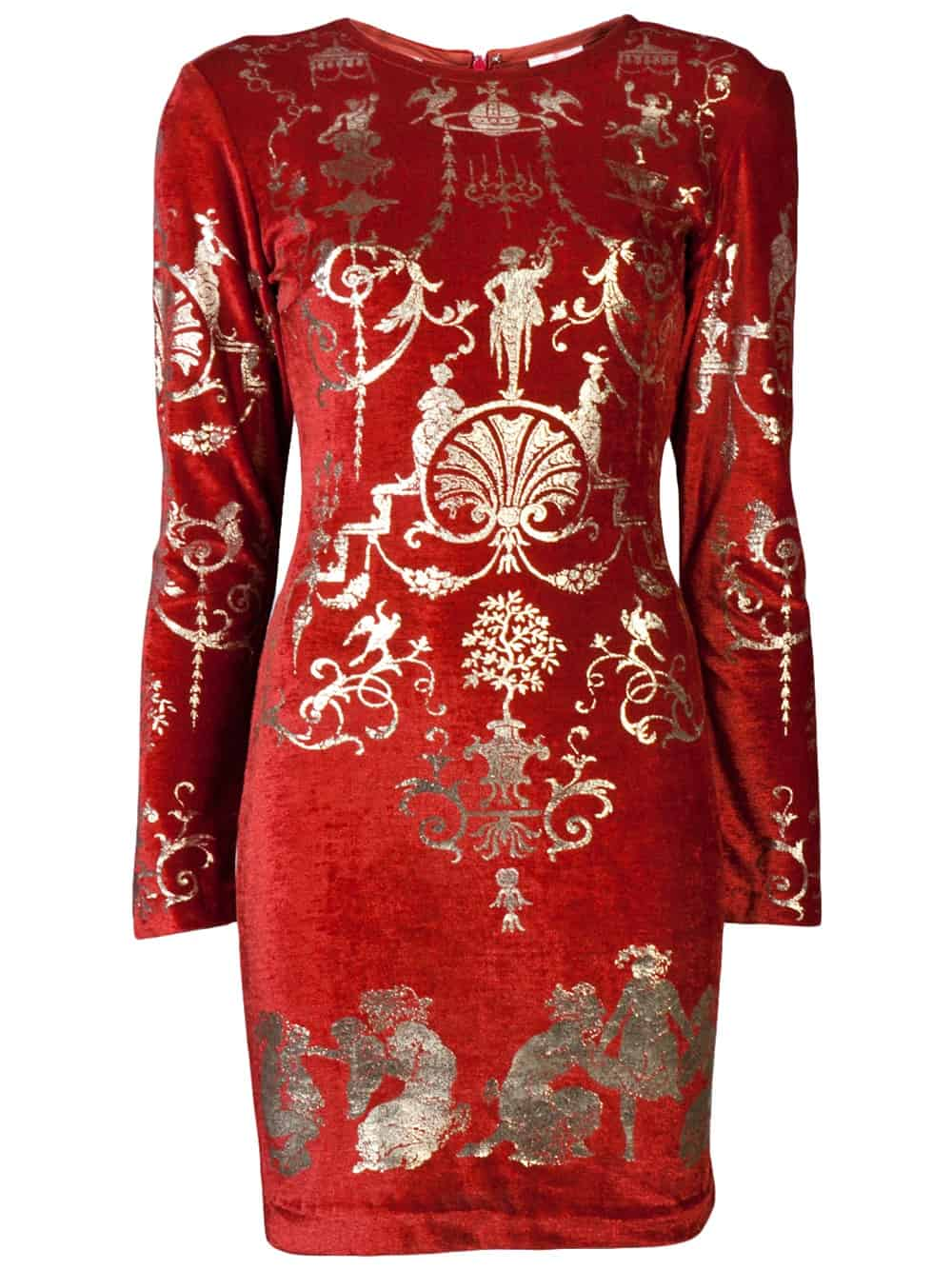 red party lond sleeve dress farfech com Holiday Party Looks & Styles! What To Wear For 2013 New Years Eve Party?