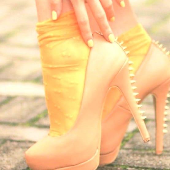 socks with heels