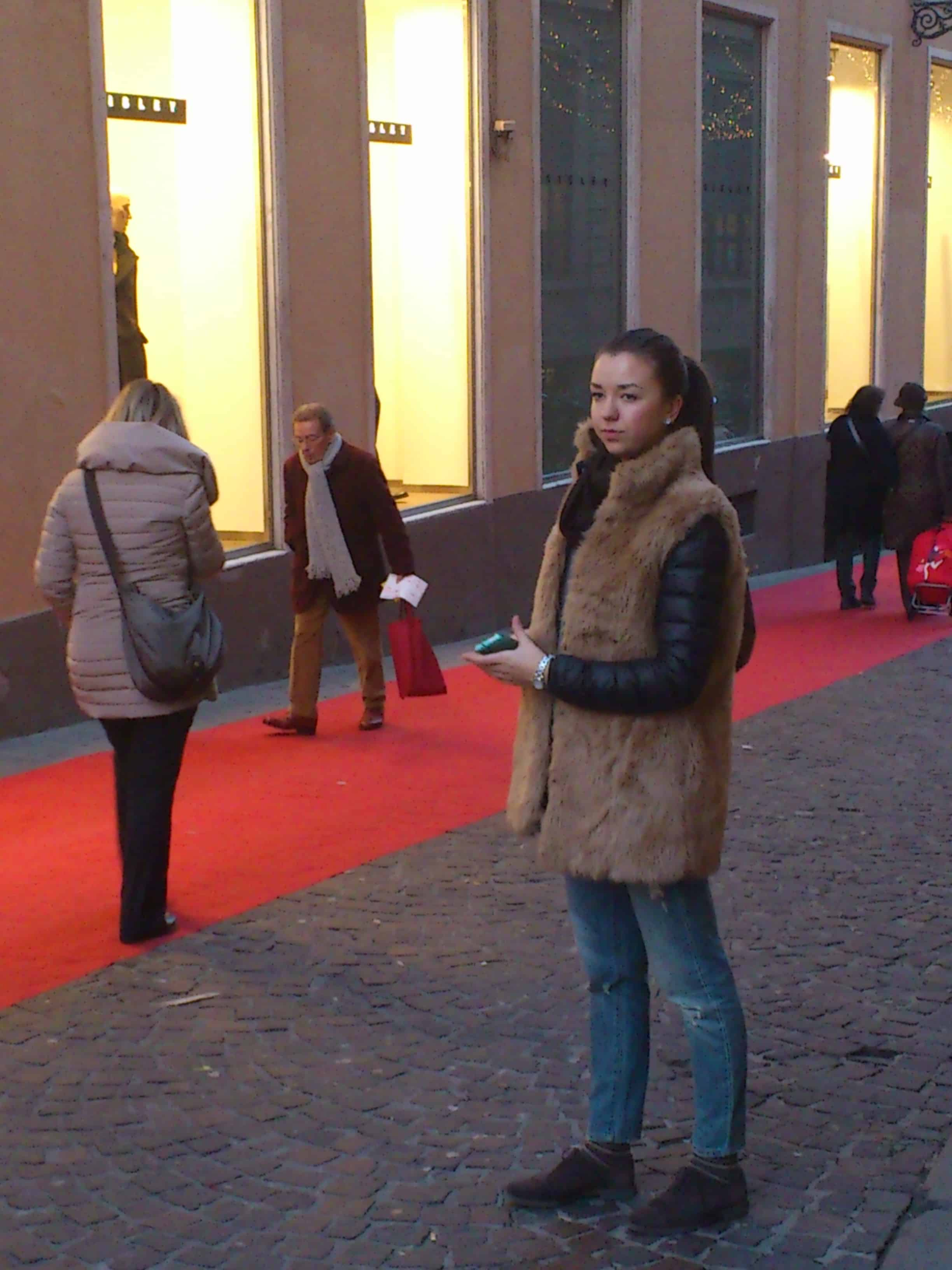street style fur vest 2013 Winter Trends From Italy! How Do Italians Dress?