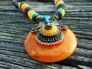 Tibetan Amber Necklace Close Fashion Tag Blog