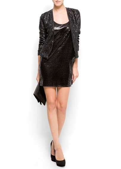 Velvet Sequins Dress - £44.99 from MANGO