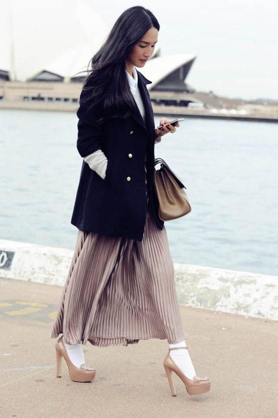 white-socks-heels-maxi skirt