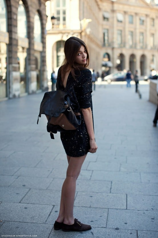 2013 street style backpack The Backpacks Are Back! Yes Or No To This 90s Trend?