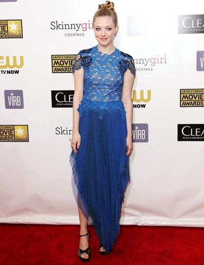 Amanda Seyfried at Red Carpet Critics Choice Awards 2013