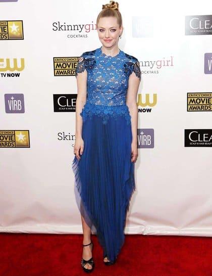 Amanda Seyfried at Red Carpet Critics Choice Awards 2013