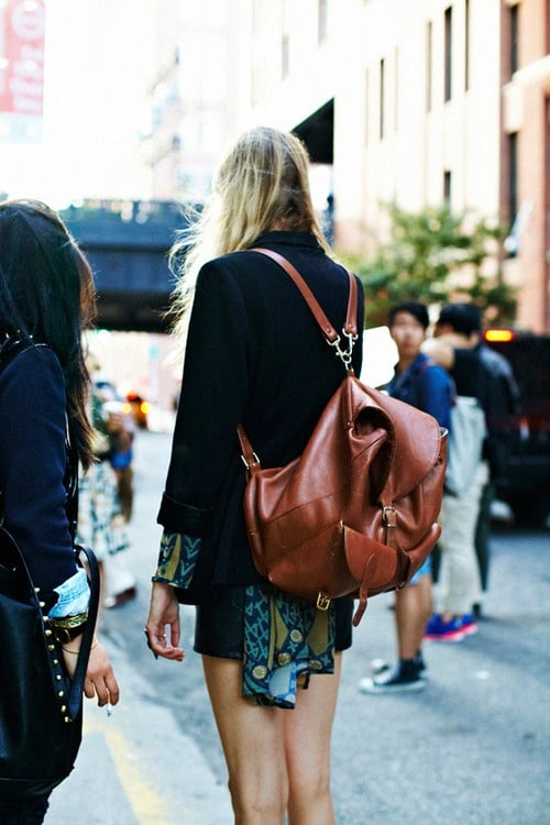 backpack street style 2013 The Backpacks Are Back! Yes Or No To This 90s Trend?