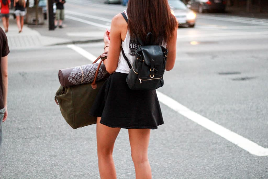 backpack street style The Backpacks Are Back! Yes Or No To This 90s Trend?