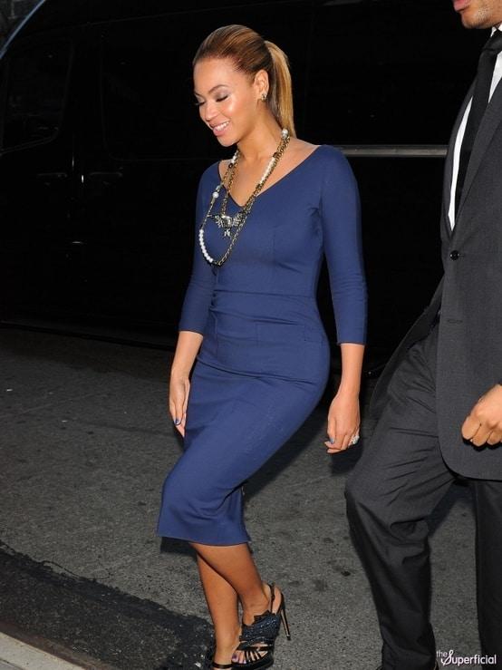 beyonce-blue-dress