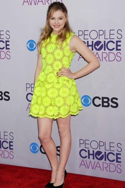 Chloe Moretz at People's Choice Awards 2013, photo via Vogue