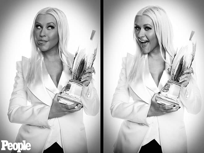 Christina Aguilera at People's Choice Awards 2013
