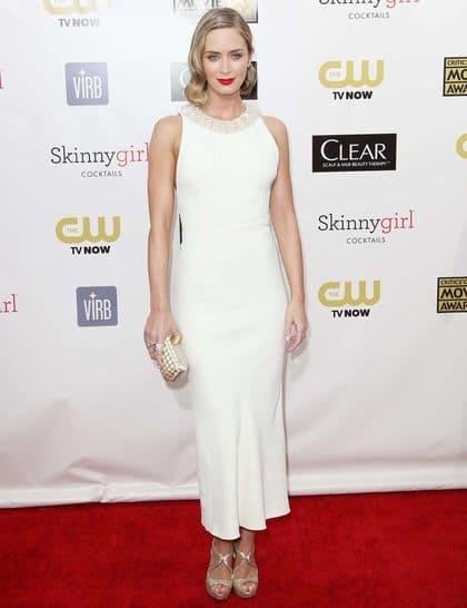 Emily Blunt at Red Carpet Critics Choice Awards 2013