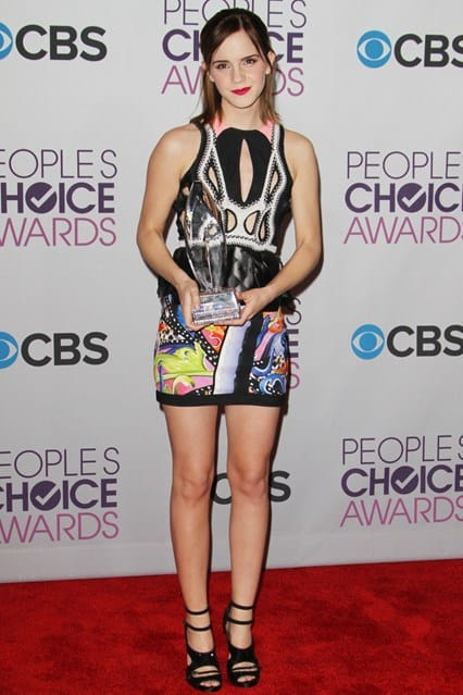 Emma Watson at People's Choice Awards 2013, photo via Vogue