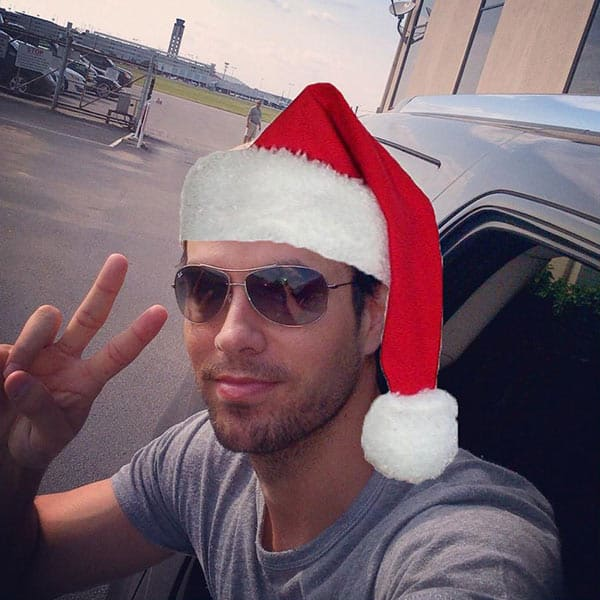 enrique iglesias christmas How Did Celebrities Spend Their 2013 NYE & Winter Holidays?