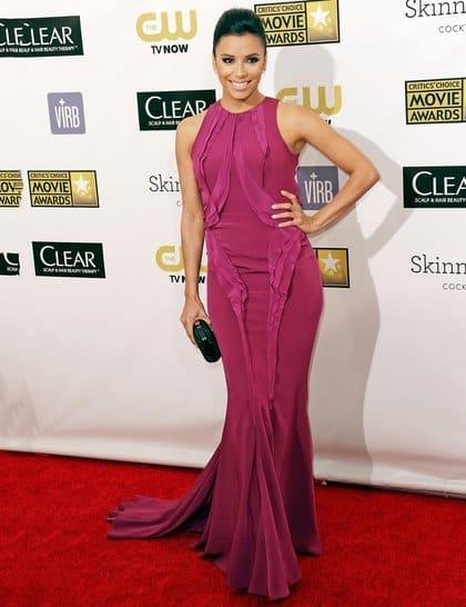 Eva Longoria at Red Carpet Critics Choice Awards 2013