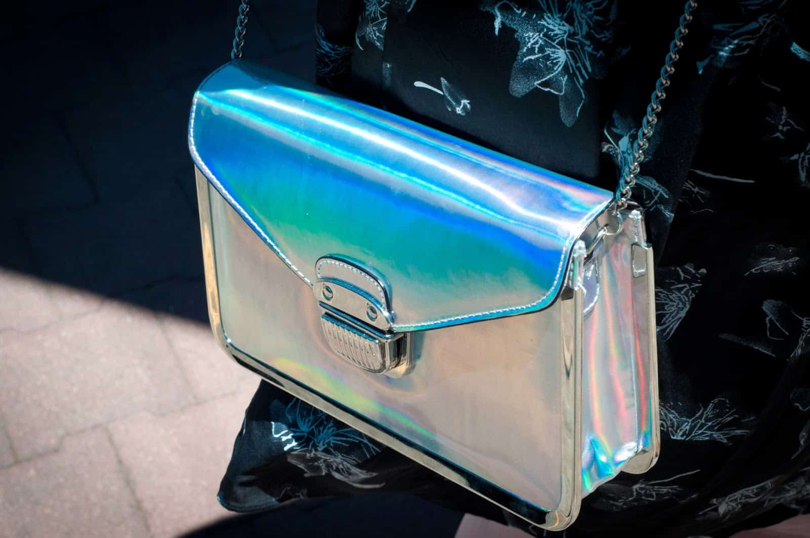 holographic bag The Holographic Trend! Retro Futuristic Glam Luxe Or Kitsch?