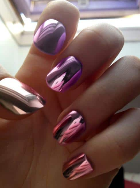 holographic mirror nails The Holographic Trend! Retro Futuristic Glam Luxe Or Kitsch?