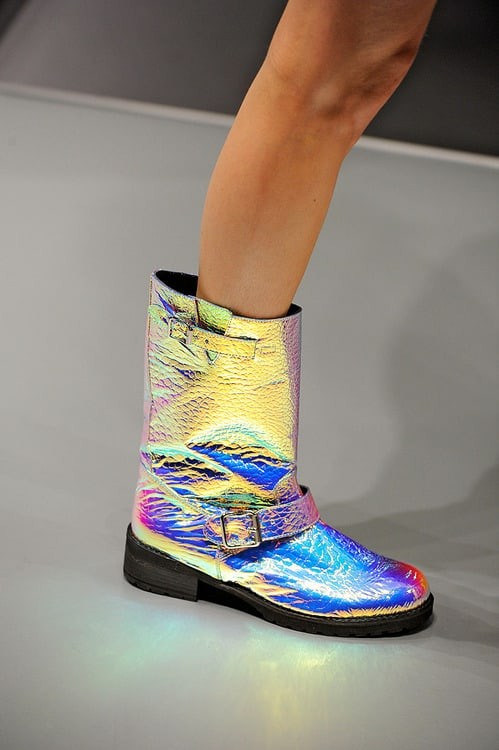 holographic trend boots The Holographic Trend! Retro Futuristic Glam Luxe Or Kitsch?