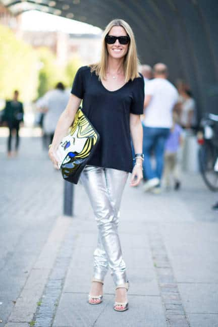 holographic trousers street style The Holographic Trend! Retro Futuristic Glam Luxe Or Kitsch?
