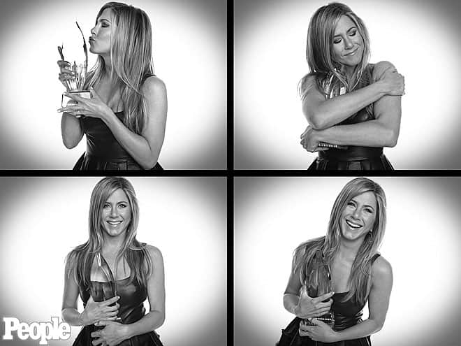 Jennifer Aniston at People's Choice Awards 2013, photo via Vogue