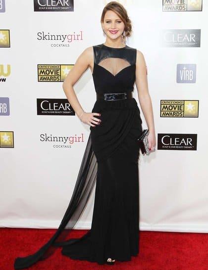 Jennifer Lawrence at Red Carpet Critics Choice Awards 2013
