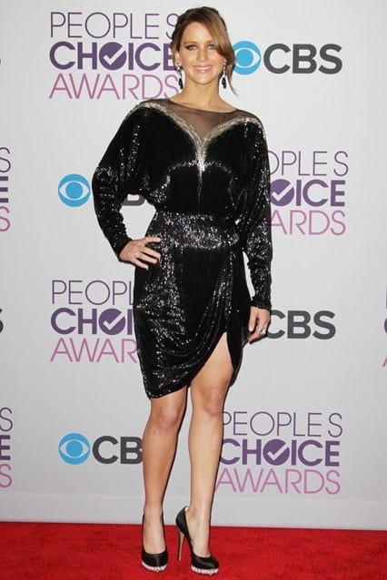 Jennifer Lawrence at People's Choice Awards 2013, photo via Vogue