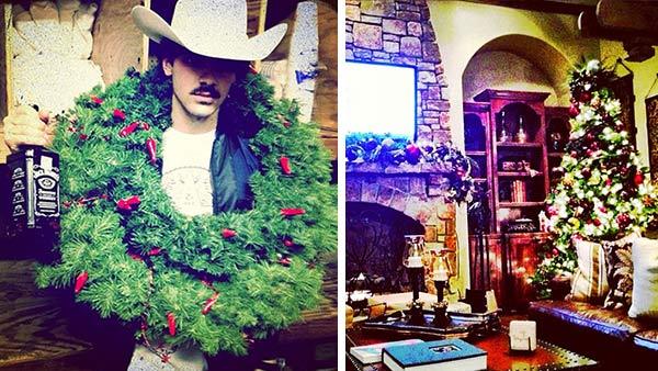 jonas christmas How Did Celebrities Spend Their 2013 NYE & Winter Holidays?