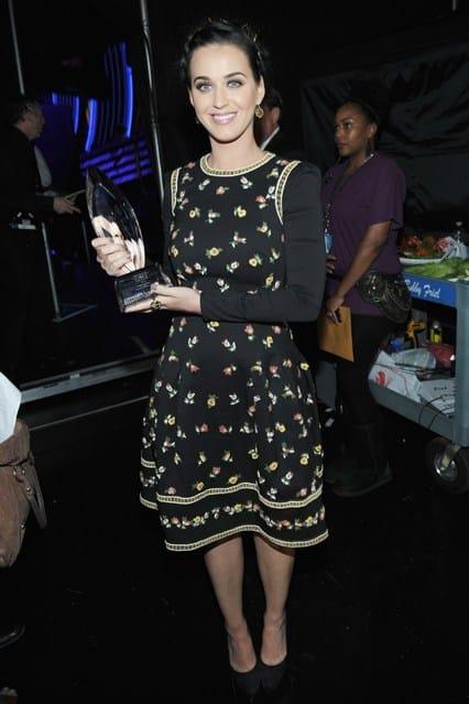 Katy Parry at People's Choice Awards 2013, photo via Vogue