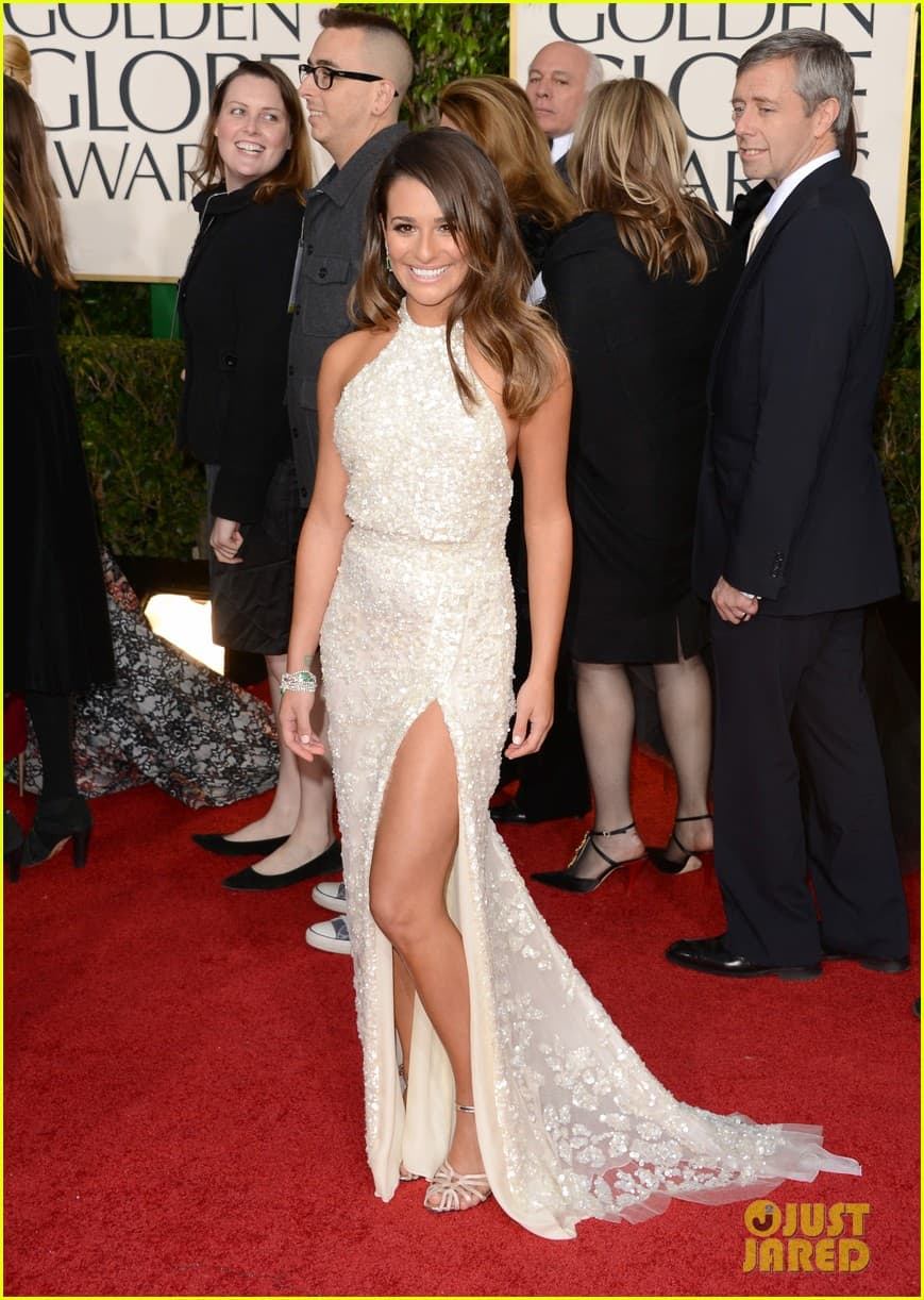 lea-michele-golden-globes-2013-red-carpet-dress
