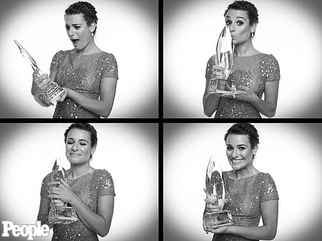 Lea Michelle at People's Choice Awards 2013, photo via People.com