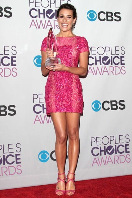 Lea Michelle at People's Choice Awards 2013, photo via Vogue