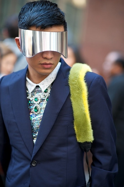 man holographic mask The Holographic Trend! Retro Futuristic Glam Luxe Or Kitsch?