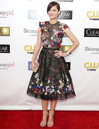 Marion Cotillard at Red Carpet Critics Choice Awards 2013