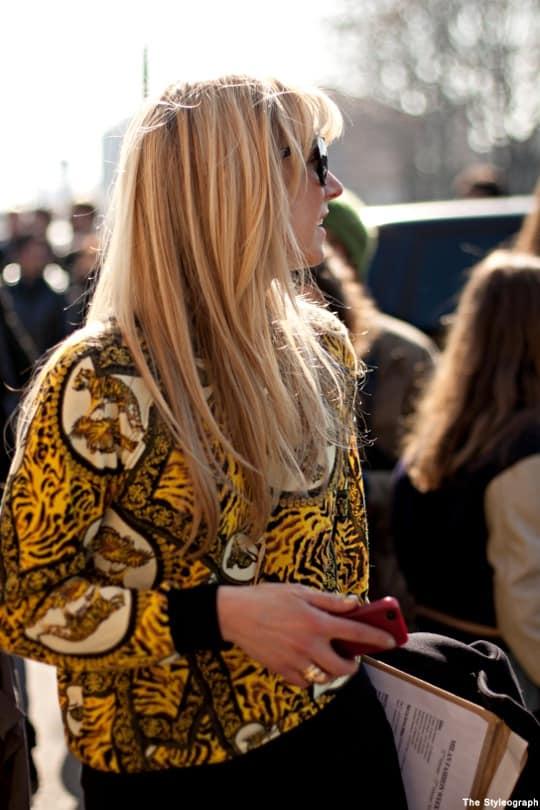 Milan+Fashion+Week+Street+Style+Women+Animal+Print+Shirt