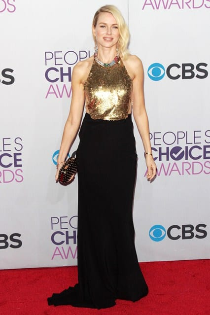 Naomi Watts at People's Choice Awards 2013, photo via Vogue