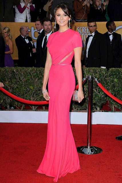 nina-dobrev-sag-awards-red-carpet-2013-elie-saab