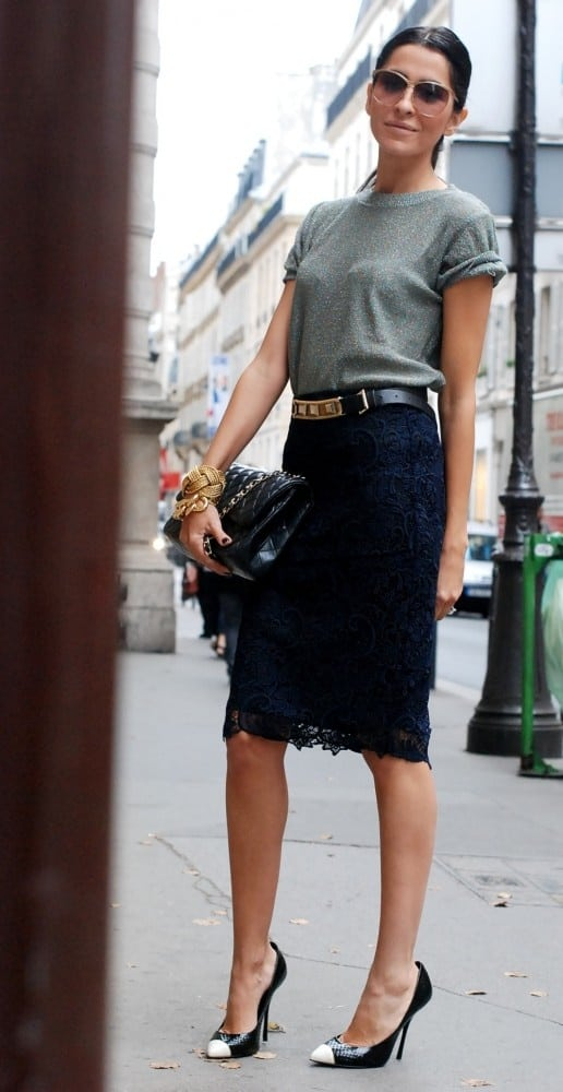 office-style-pencil -skirt