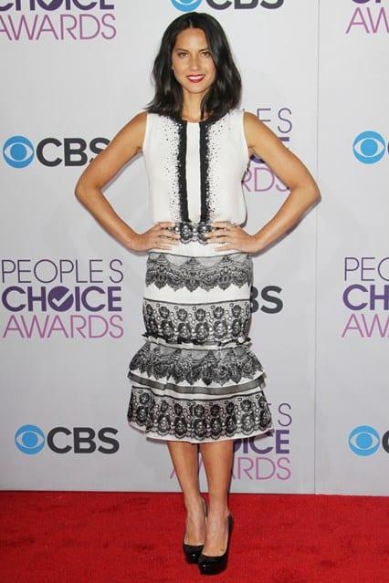 Olivia Munn at People's Choice Awards 2013, photo via Vogue