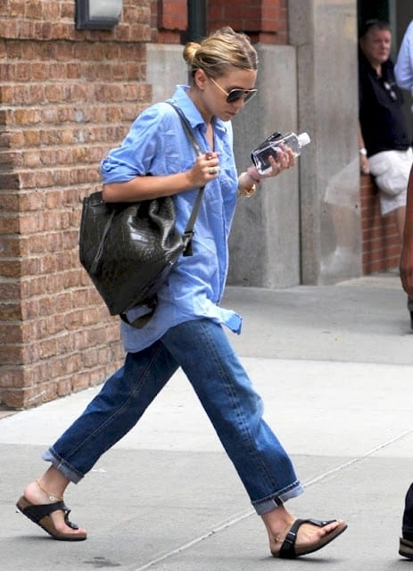 olsen street style backpack The Backpacks Are Back! Yes Or No To This 90s Trend?