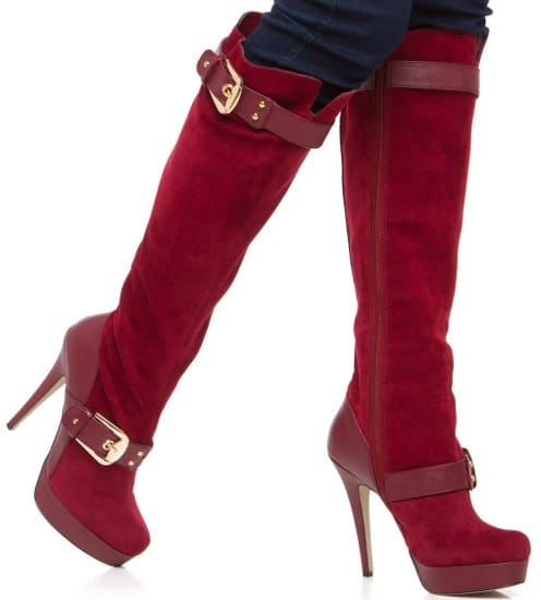 shoedazzle-red-suede-boots