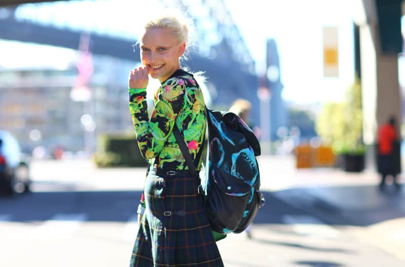 street style backpack 2 The Backpacks Are Back! Yes Or No To This 90s Trend?